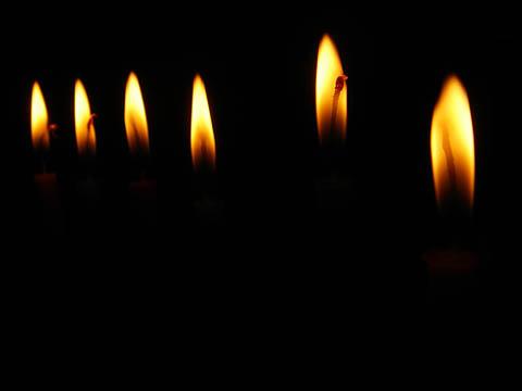 flames of the  menorah