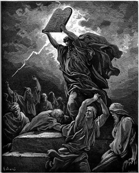 Moses smashes the tablets  of stone on the 17th of Tammuz