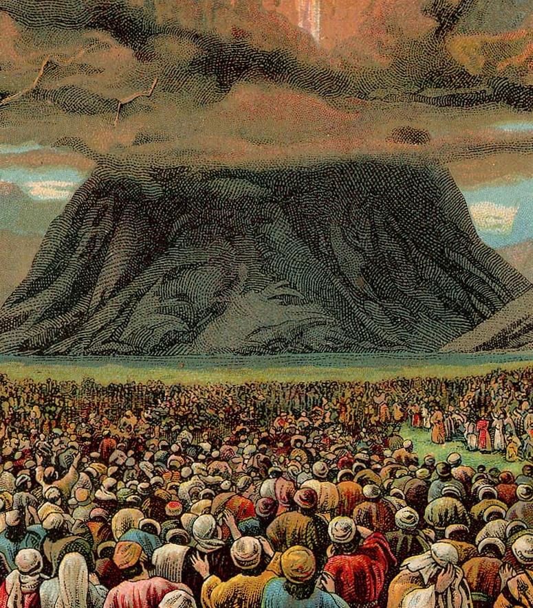 Receiving the Torah on Mount Sinai